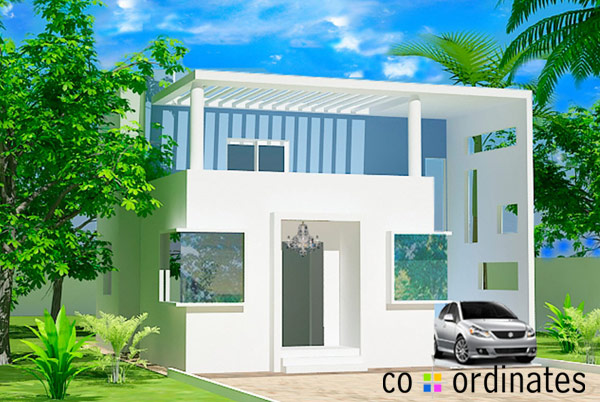 3D Rendering of the Villa by Coordinates