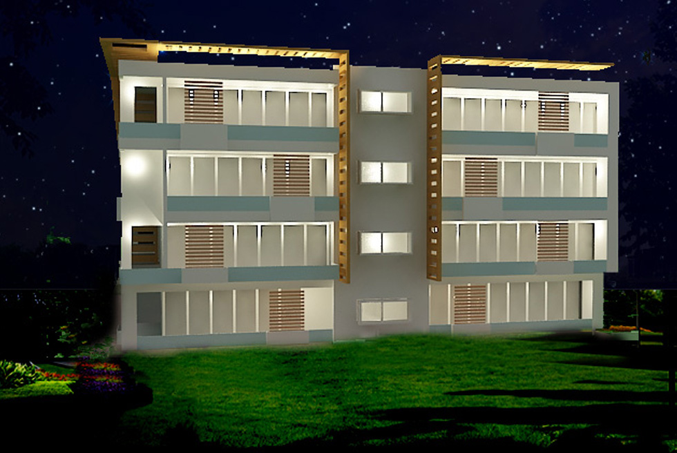 Green Vista Night View Design